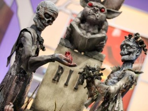 This zombie wedding is made of cake, pumpkins, and sugar, y'all. Witness the awesome.